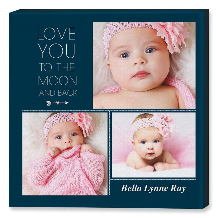 Love You Collage Photo Canvas Print