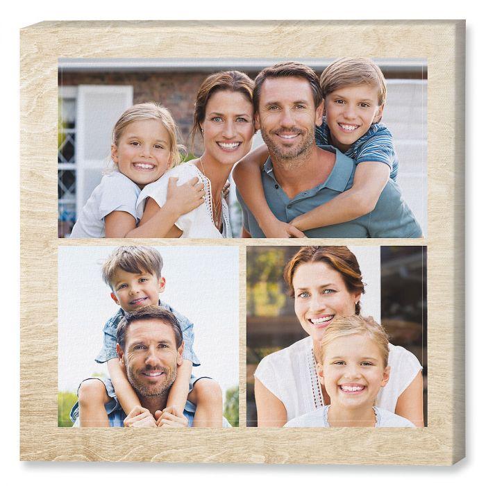 Midtone Wood Collage Canvas Photo Print
