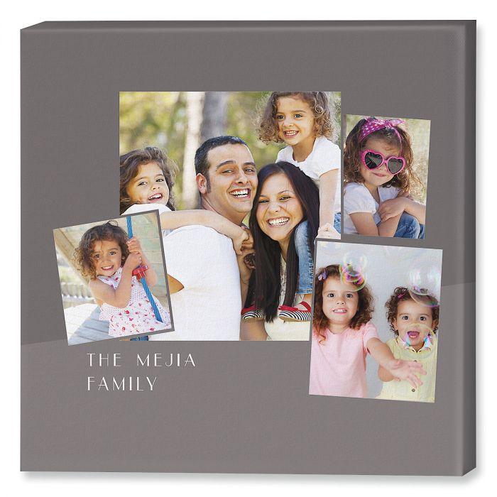 Family Name Collage Canvas Photo Print