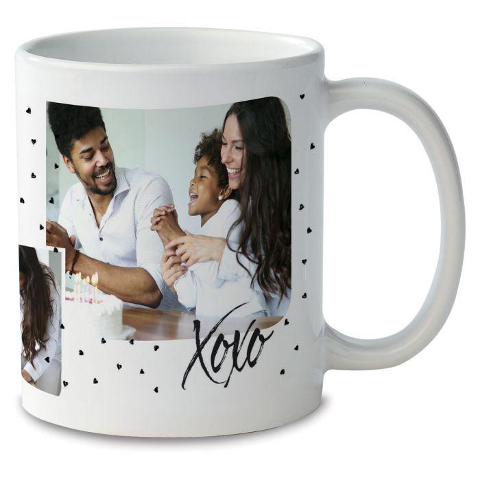 Family Hearts Personalized Photo Mug