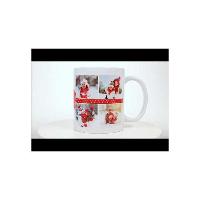 Polka Dot Personalized Photo Mug