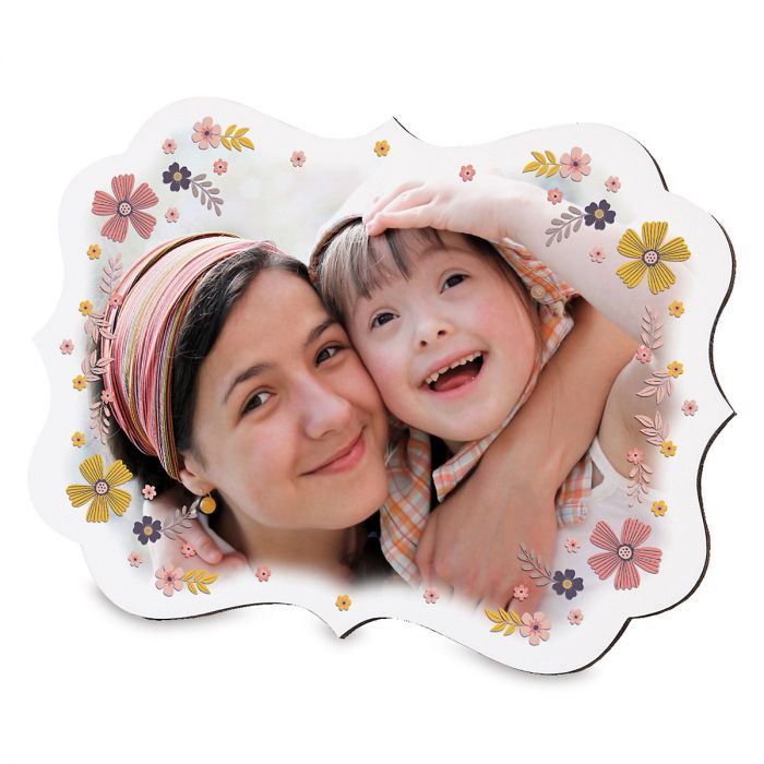 Floral Benelux Personalized Photo Plaque