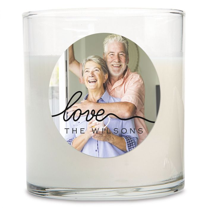 Love Personalized Photo Candle