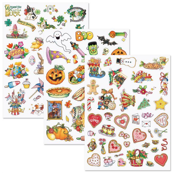 Mary Engelbreit® Year-Round Holidays Sticker Value Pack
