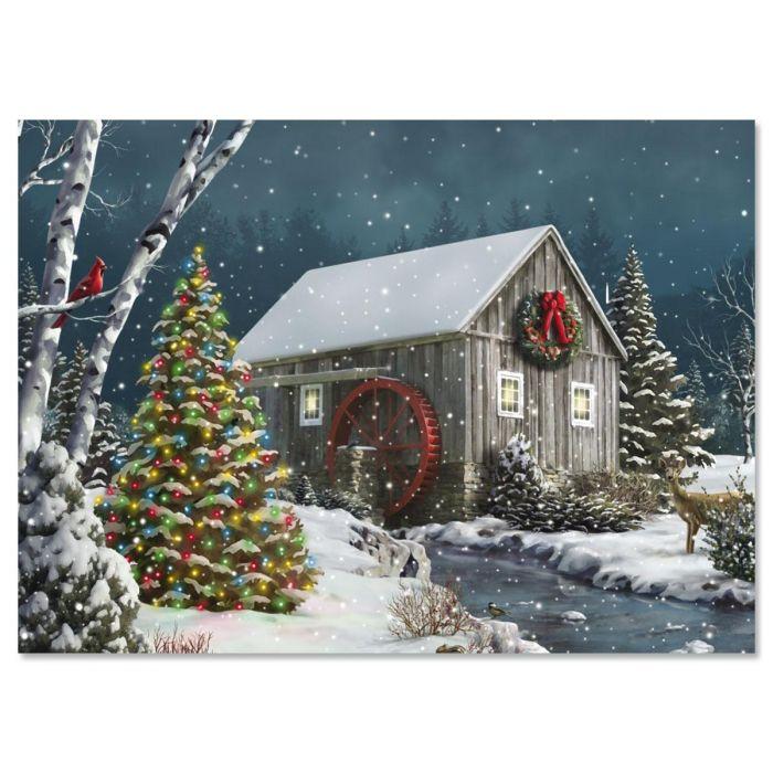 Falling Snow Christmas Cards