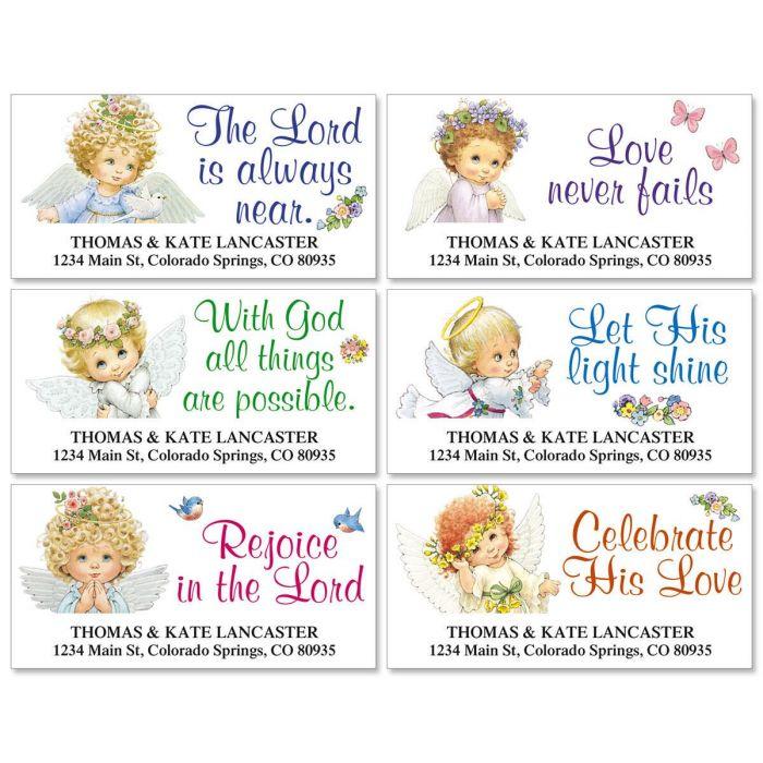 Heavenly Angels Deluxe Address Labels  (6 designs)