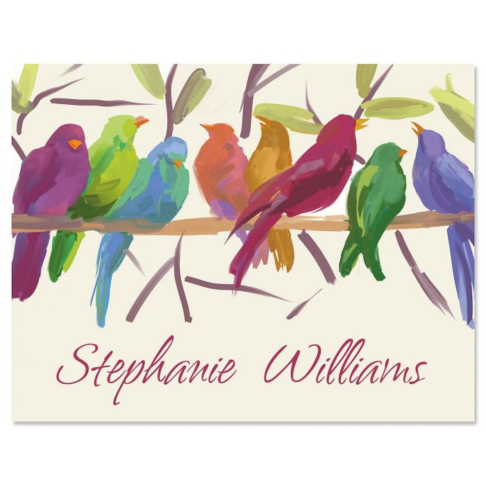 Flocked Together Personalized Note Cards