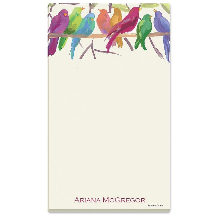 Flocked Together Personalized Notepads