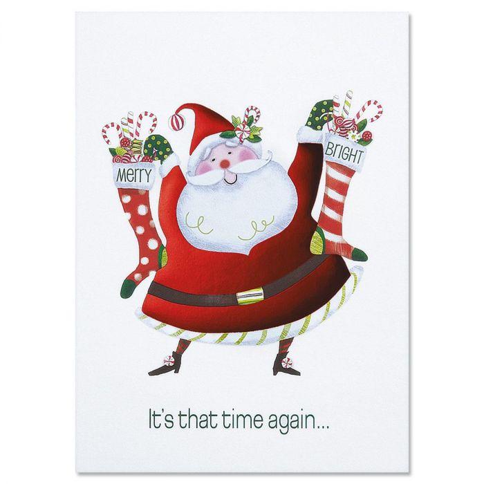 Merry & Bright Santa Christmas Cards