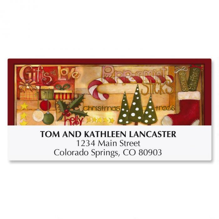 Favorite Things Christmas Address Labels