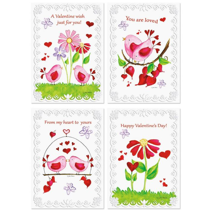 Deluxe Faith Birds & Blossoms Valentines Day Cards