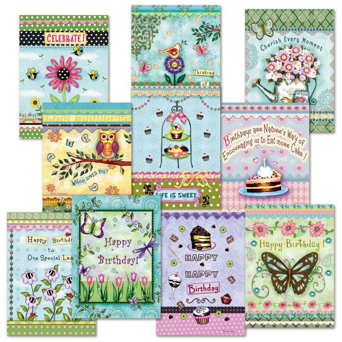 20 Card Scrapbook Borders Birthday Value Pack Current Catalog