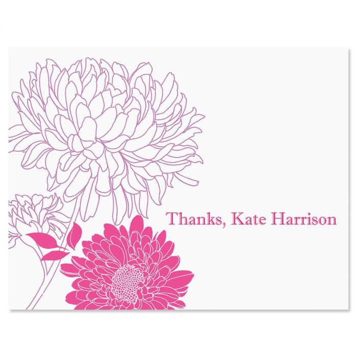 Flora Personalized Thank You Cards