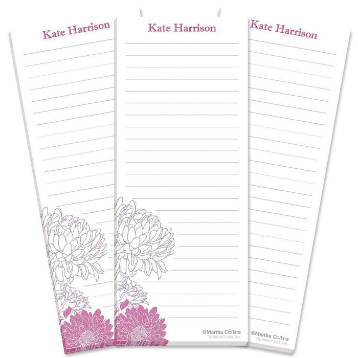 Flora Lined Shopping List Pads