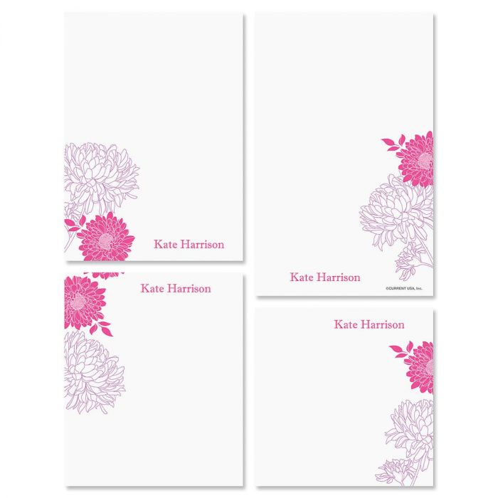 Flora Personalized Notepad Set