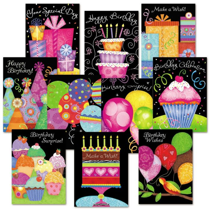 Brights Birthday Cards Value Pack