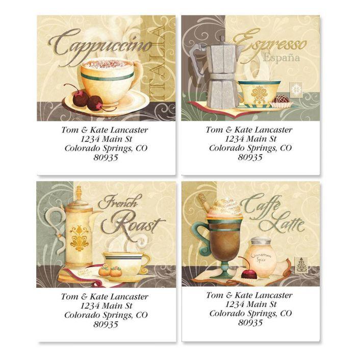 Coffee Talk Address Labels