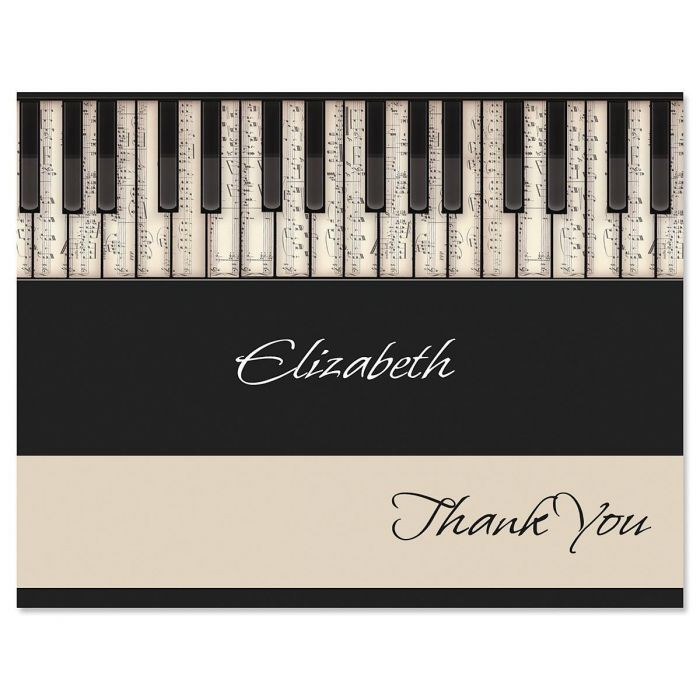 keyboard personalized thank you cards - Personalized Thank You Cards