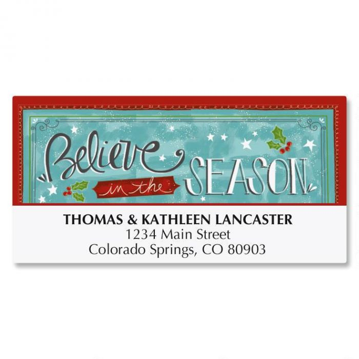 Believe Christmas Deluxe Address Labels