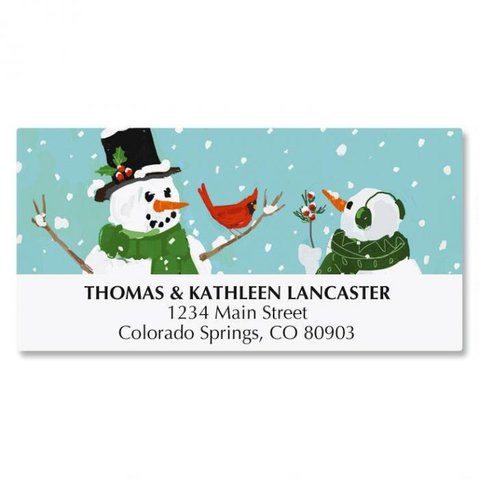 Snowman and Cardinal Address Labels