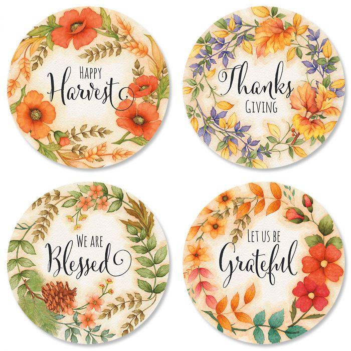 Harvest Floral Envelope Sticker Seals