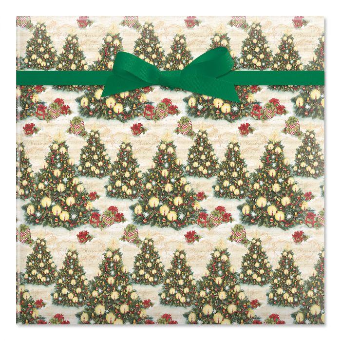 Christmas Tree Jumbo Rolled Gift Wrap