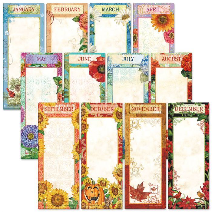 12 Months Magnetic Shopping List Pads