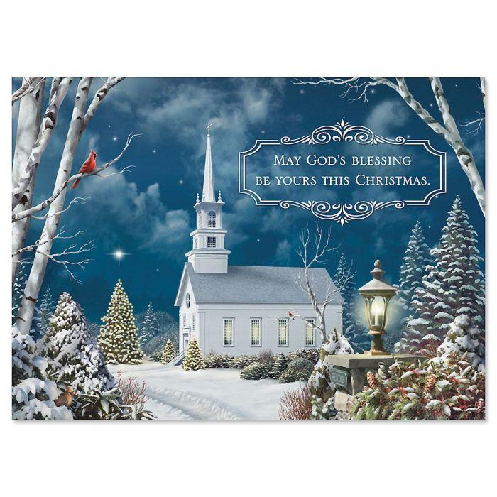 Holy Night Religious Christmas Cards