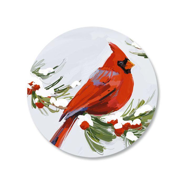 Cardinal Envelope Sticker Seals