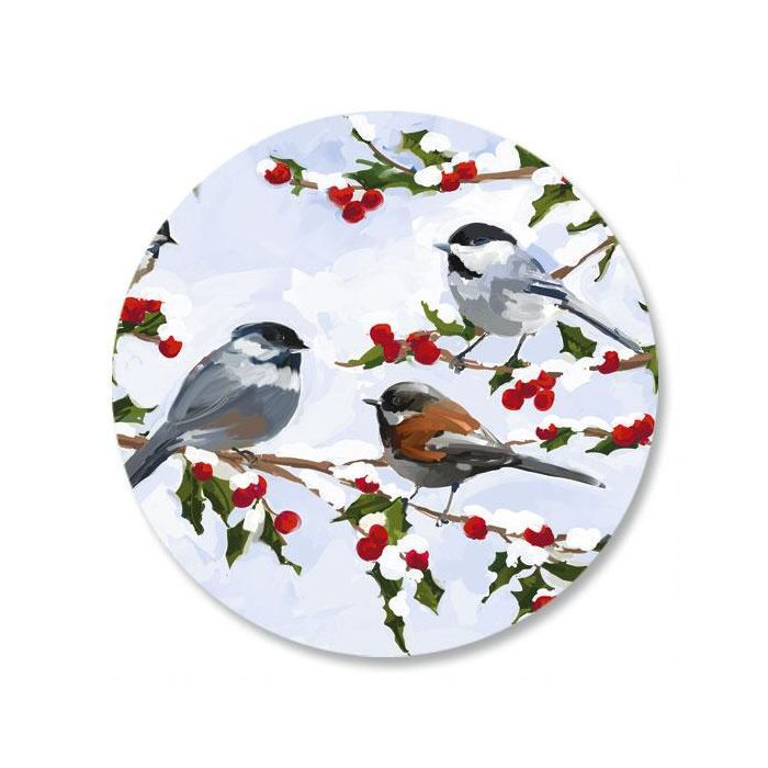 Chickadees and Berries Seals