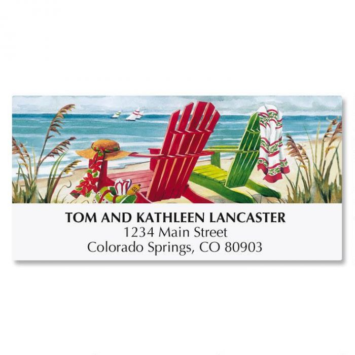 Beach Chairs Address Labels