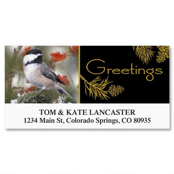 Chickadee Deluxe Address Labels