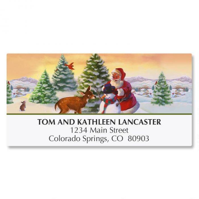 Santa's Woodland Friends Deluxe Address Labels