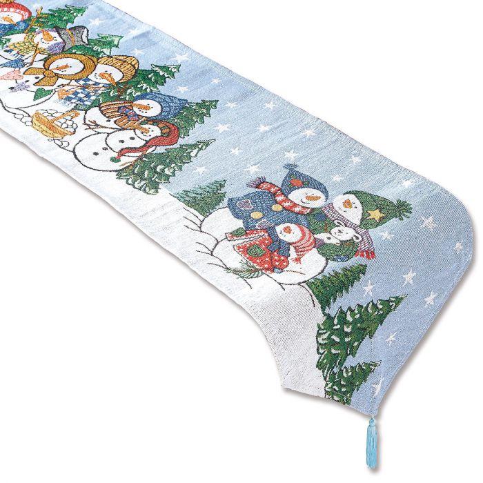 Snowman Tapestry Table Runner