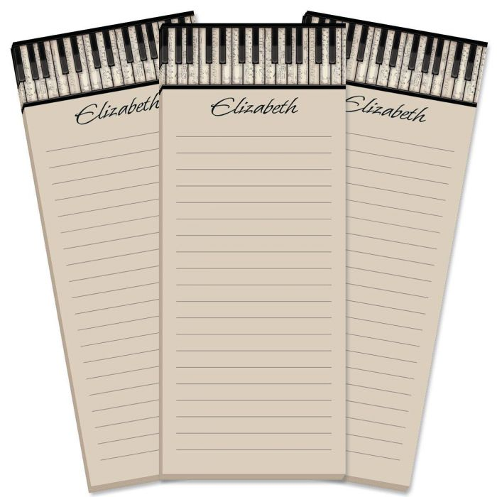 Keyboard Lined Shopping List Pads