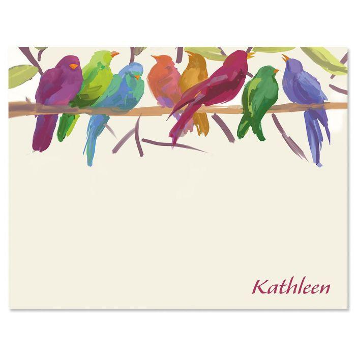 Flocked Together Correspondence Cards