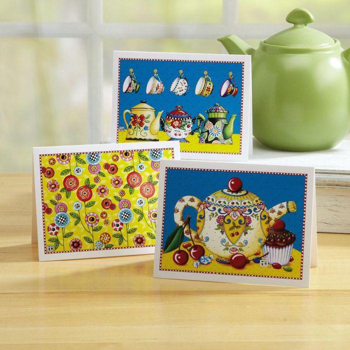 Tea & Flowers Note Cards