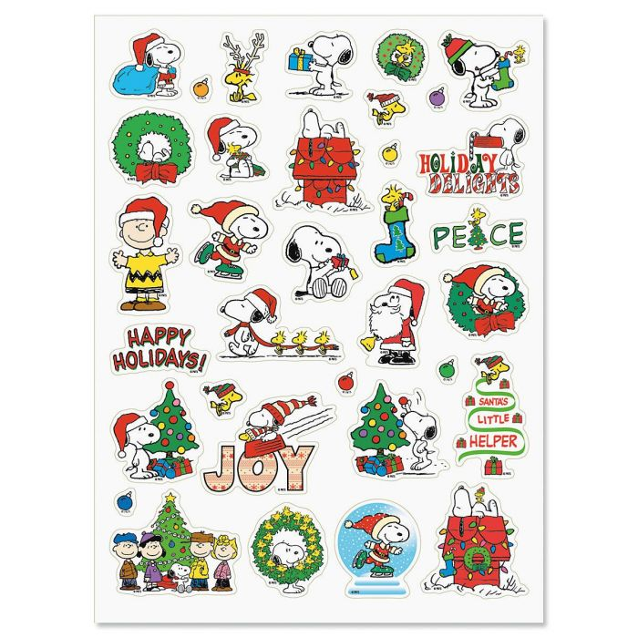 PEANUTS® Christmas Stickers - BOGO