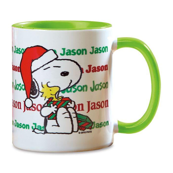 PEANUTS® Christmas Name Personalized Mug