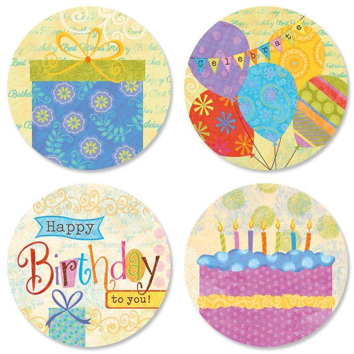 Birthday Banners Seals (4 Designs)