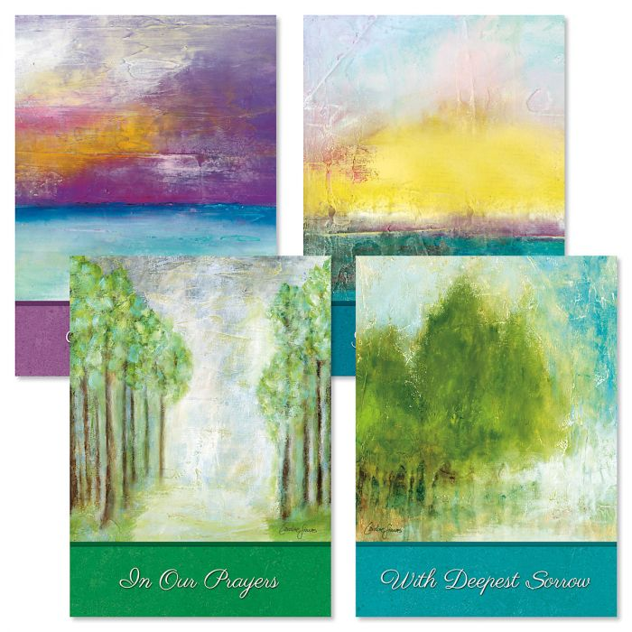Soothing Serenity Sympathy Cards and Seals