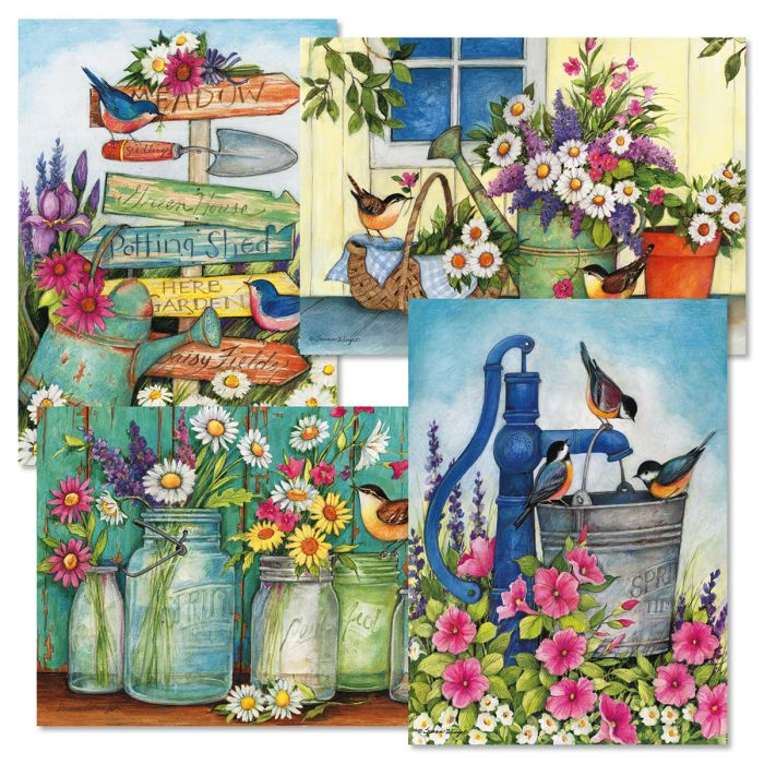Garden Signs Birthday Cards and Seals