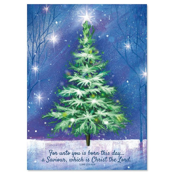 Winter Tree Religious Christmas Cards