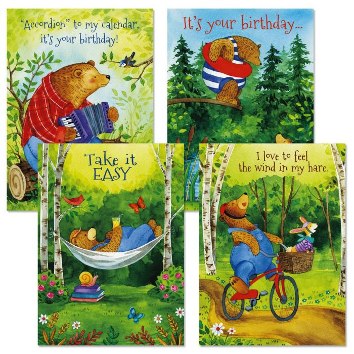 Bear Hug Birthday Cards and Seals