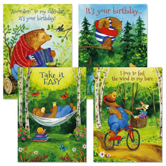 Bear Hug Birthday Cards