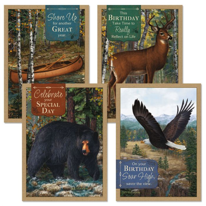 Wildlife Birthday Cards and Seals