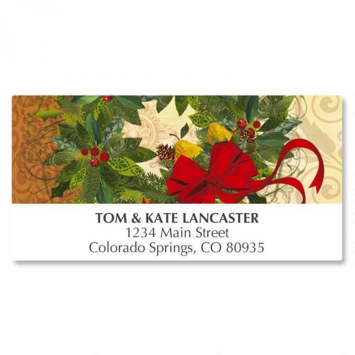 Winter Garden Wreath Deluxe Address Labels