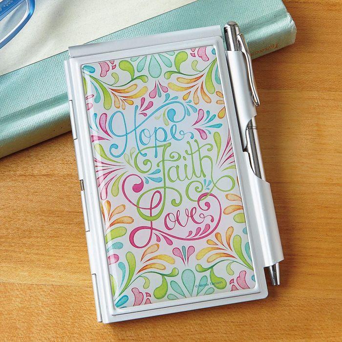 Hope, Faith, Love Notepad & Pen Set