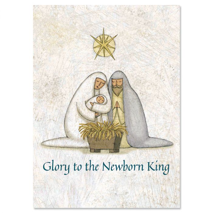Rejoice Christmas Cards - Personalized