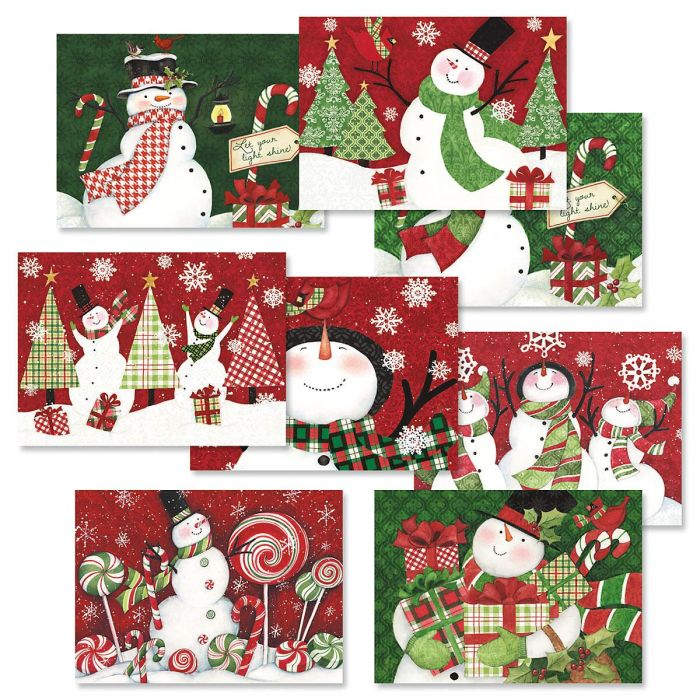 Snowman Christmas Cards Value Pack